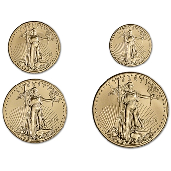 2016 American Gold Eagle 4-pc Year Set - BU