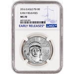 2016 American Platinum Eagle (1 oz) $100 - NGC MS70 - Early Releases