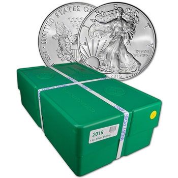 2016 American Silver Eagle (1 oz) $1 - BU - Sealed 500 Coin Monster Box