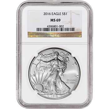 2016 American Silver Eagle - NGC MS69