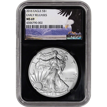 2016 American Silver Eagle - NGC MS69 - Early Releases - Bald Eagle - Retro