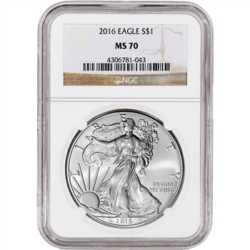 2016 American Silver Eagle - NGC MS70