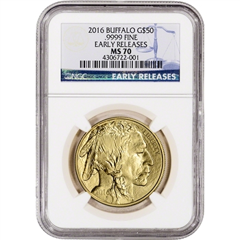 2016 American Gold Buffalo (1 oz) $50 - NGC MS70 - Early Releases