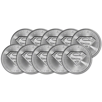 2016 Canada Silver Superman (1 oz) $5 BU - Ten 10 Coins