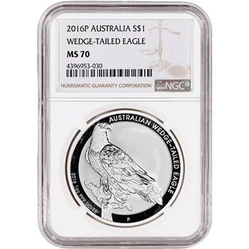 2016-P Australia Silver Wedge-Tailed Eagle (1 oz) $1 - NGC MS70