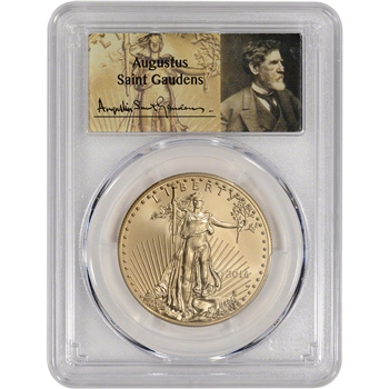 2016-W American Gold Eagle (1 oz) $50 Burnished - PCGS SP70 First Strike Gaudens