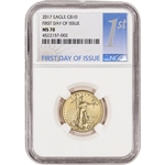 2017 American Gold Eagle (1/4 oz) $10 - NGC MS70 - First Day of Issue 1st Label