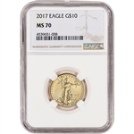 2017 American Gold Eagle (1/4 oz) $10 - NGC MS70