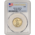 2017 American Gold Eagle (1/4 oz) $10 - PCGS MS70 - First Strike