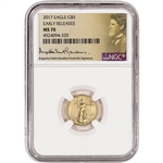 2017 American Gold Eagle (1/10 oz) $5 - NGC MS70 Early Releases St Gaudens Label