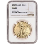 2017 American Gold Eagle (1 oz) $50 - NGC MS70