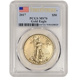 2017 American Gold Eagle (1 oz) $50 - PCGS MS70 - First Strike