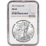 2017 American Silver Eagle - NGC MS69