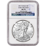 2017 American Silver Eagle - NGC MS70 - Early Releases