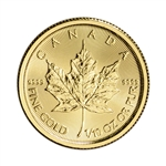 2017 Canada Gold Maple Leaf - 1/10 oz - $5 - BU