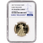 2017-W American Gold Eagle Proof (1/2 oz) $25 - NGC PF70 UCAM - Early Releases