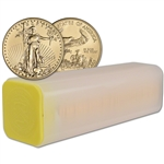 2018 American Gold Eagle (1/2 oz) $25 - 1 Roll - Forty 40 BU Coins in Mint Tube