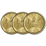 2018 Canada Gold Maple Leaf 1/4 oz $10 - BU - Three 3 Coins