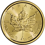 2018 Canada Gold Maple Leaf 1/4 oz $10 - BU