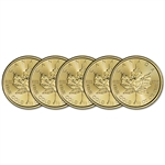 2018 Canada Gold Maple Leaf 1/2 oz $20 - BU - Five 5 Coins