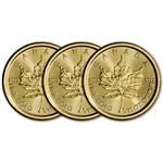 2018 Canada Gold Maple Leaf 1/10 oz $5 - BU - Three 3 Coins