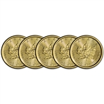 2018 Canada Gold Maple Leaf 1/10 oz $5 - BU - Five 5 Coins