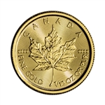 2018 Canada Gold Maple Leaf 1/10 oz $5 - BU