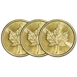 2018 Canada Gold Maple Leaf 1 oz $50 - BU - Three 3 Coins