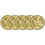 2018 Canada Gold Maple Leaf 1 oz $50 - BU - Five 5 Coins