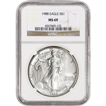 1988 American Silver Eagle - NGC MS69