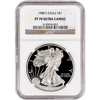 1988-S American Silver Eagle Proof - NGC PF70 UCAM
