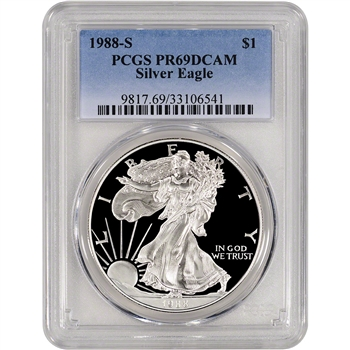 1988-S American Silver Eagle Proof - PCGS PR69DCAM