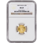 1989 American Gold Eagle (1/10 oz) $5 - NGC MS69