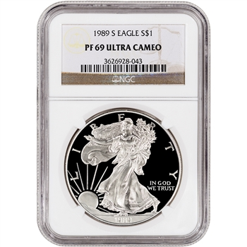 1989-S American Silver Eagle Proof - NGC PF69UCAM