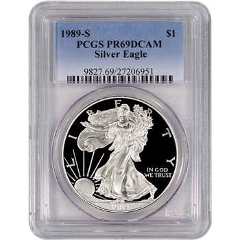 1989-S American Silver Eagle Proof - PCGS PR69DCAM