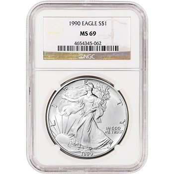 1990 American Silver Eagle - NGC MS69