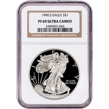 1990-S American Silver Eagle Proof - NGC PF69 UCAM