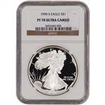 1990-S American Silver Eagle Proof - NGC PF70UCAM