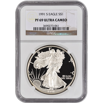 1991-S American Silver Eagle Proof - NGC PF69UCAM