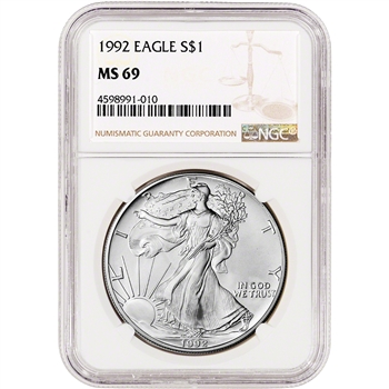 1992 American Silver Eagle - NGC MS69