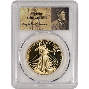 1993-W American Gold Eagle Proof (1 oz) $50 - PCGS PR70 - St. Gaudens Label