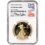 1994-W American Gold Eagle Proof 1 oz $50 - NGC PF70 UCAM Castle Signed