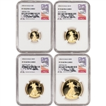 1994-W American Gold Eagle Proof 4-pc Year Set - NGC PF70 UCAM Castle Signed