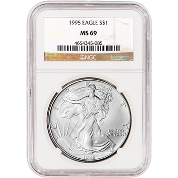 1995 American Silver Eagle - NGC MS69
