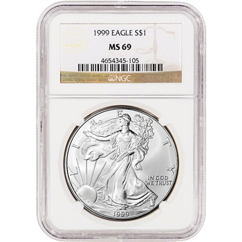 1999 American Silver Eagle - NGC MS69
