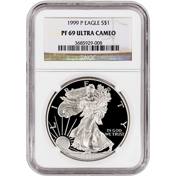 1999-P American Silver Eagle Proof - NGC PF69UCAM