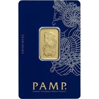 10g PAMP Suisse Fortuna 999.9 Fine Gold Bar in Assay