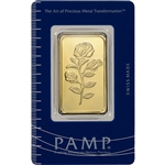 1 oz. Gold Bar - PAMP Suisse - Rosa Rose - 999.9 Fine in Assay
