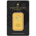 1 oz. Perth Mint 99.99 Fine Gold Bullion Bar in Assay