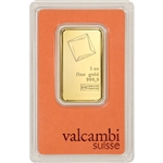 1 oz. Gold Bar - Valcambi Suisse - 999.9 Fine in Assay